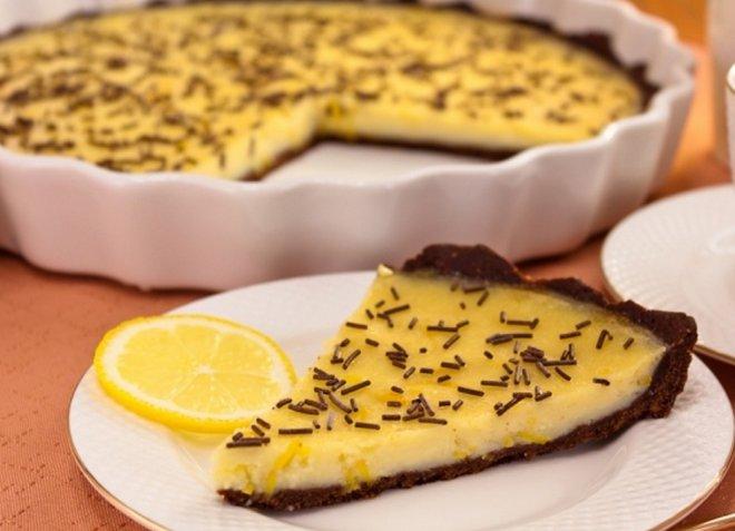 Шоколадов пай с лимони (стъпка по стъпка)