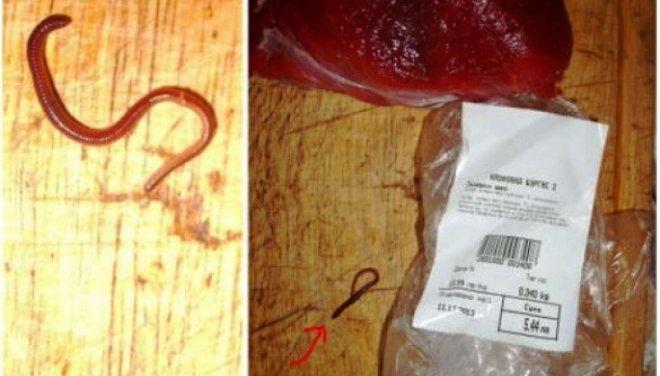 """Месо с червеи в """"Кауфланд"""""""