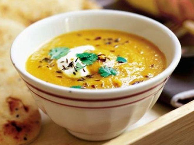 Крем супа от леща с къри